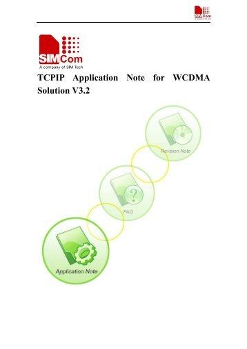 TCPIP Application Note for WCDMA Solution V3 2