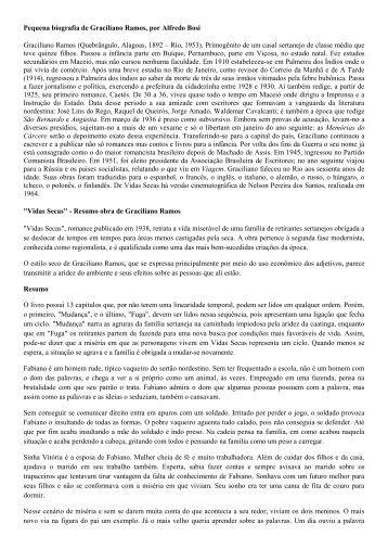 Pequena biografia de Graciliano Ramos, por Alfredo Bosi