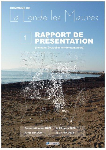 (incluant l'évaluation environnementale) - Mairie de La Londe les ...