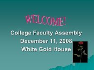 Colleges Updates 2008 - School of Business and Economics