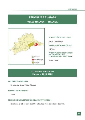 Proyectos Málaga - Federación Andaluza de Municipios y Provincias