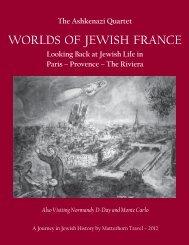 Worlds of Jewish France 2012.indd - Matterhorn Travel