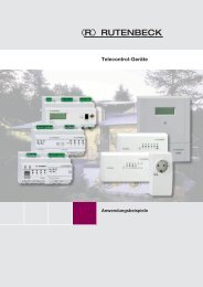 Telecontrol-Geräte – Anwendungsbeispiele - Rutenbeck