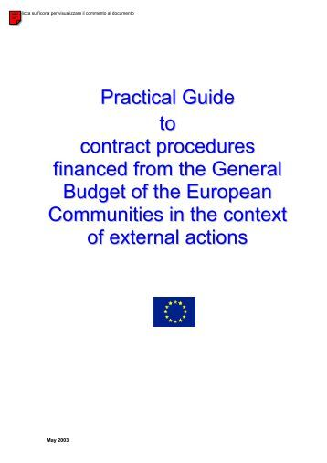 Procedures and practical guide (PRAG)