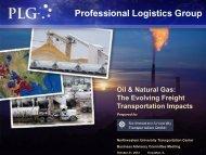 Professional Logistics Group - Transportation Center - Northwestern ...