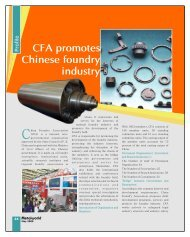 CFA promotes Chinese foundry industry - Metalworld.co.in