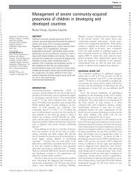 Management of severe community-acquired pneumonia