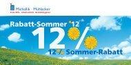 12 % Sommer-Rabatt - Fritz Oskar Michallik GmbH & Co.