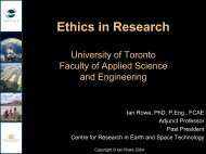 Ethics in Research: Building a tool kit of best practices - Engineering ...