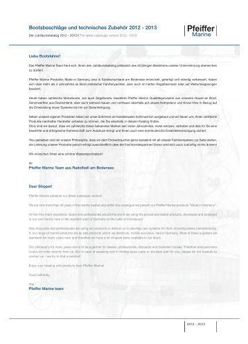 Bootsbeschläge und technisches Zubehör 2012 -  Pfeiffer Marine ...
