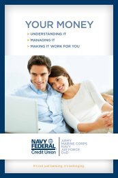 Make Your Money Work for You - Navy Federal Credit Union