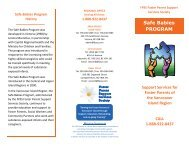 Safe Babies PROGRAM - Foster Parents Support Services Society