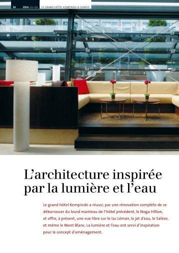 L'architecture inspirée par la lumière et l'eau