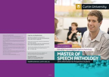 Information Booklet - Health Sciences - Curtin University