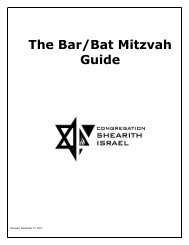 of bar/bat mitzvah - Congregation Shearith Israel