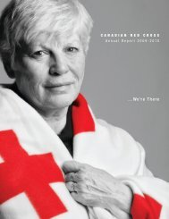 Annual Report - Canadian Red Cross