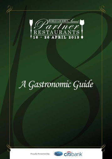 A Gastronomic Guide - World Gourmet Summit