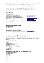 Liste der Kommissionen/Arbeitsgruppen ... - sgprac/sscpre