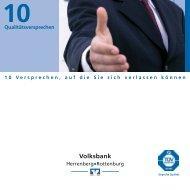Qualitätsversprechen - Volksbank Herrenberg-Rottenburg eG