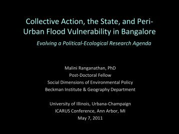 Panel Theme 1c. Adaptation and Vulnerability in Urban ... - ICARUS