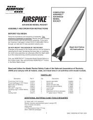 Airspike Instructions (864k) - AeroTech