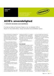 [pdf] ACIS's anvendelighed - Ergoterapeutforeningen