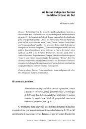As terras indígenas Terena no Mato Grosso do Sul - Funai