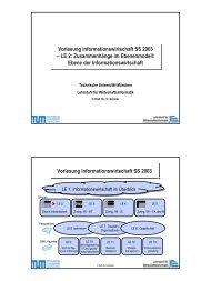 InfoWi SS 03 LE 2.pdf - Lehrstuhl für Wirtschaftsinformatik