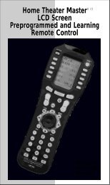 Home Theater Master LCD Screen Preprogrammed and ... - BlueDo
