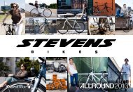 Whoever buys a neW bicycle might fulfill a dream. Maybe ... - Stevens