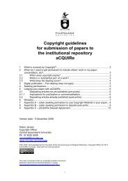 Guidelines for submission of work to the institutional repository ...
