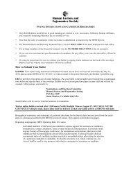here - Human Factors and Ergonomics Society