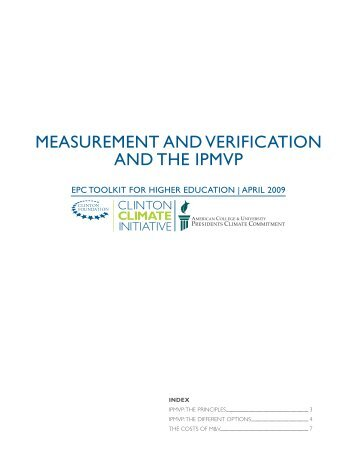 measurement and verification and the ipmvp - Climate Commitment