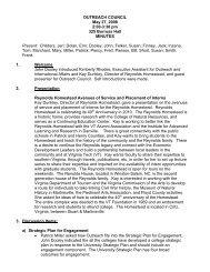 May 27 - Outreach & International Affairs - Virginia Tech