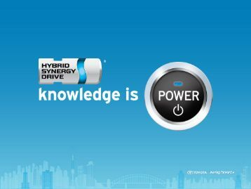 [Hybrid Synergy Drive Knowledge is Power]