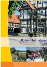 Bürgerinformationen 2010/2011 - Stadtmarketing Springe