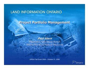 Project Portfolio Management - URISA Ontario