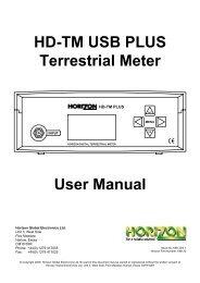 HD-TM Plus - Horizon Global Electronics Ltd - signal strength meter