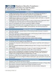 Compliance Checklist - The Alliance
