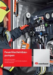 Feuerlöscheinbau- pumpen - Rosenbauer International AG