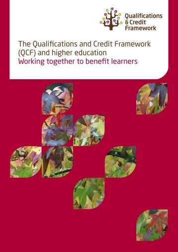 The Qualifications and Credit Framework (QCF ... - Linking London