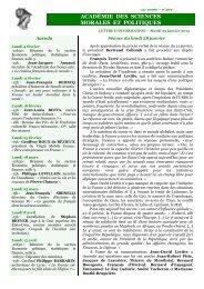 Mardi 29 janvier 2013 - Académie des sciences morales et politiques