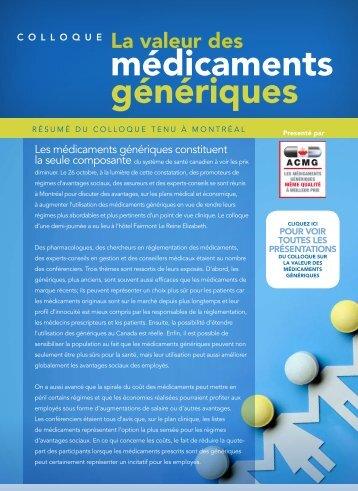 médicaments génériques - Conseiller