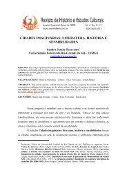 cidades imaginárias: literatura, história e sensibilidades - Revista de ...