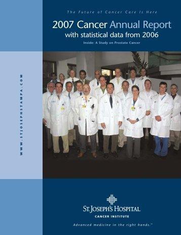 2007 Cancer Annual Report - St.Joseph's Hospital