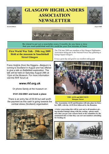 Newsletter No7 - August 2009 - The Royal Highland Fusiliers