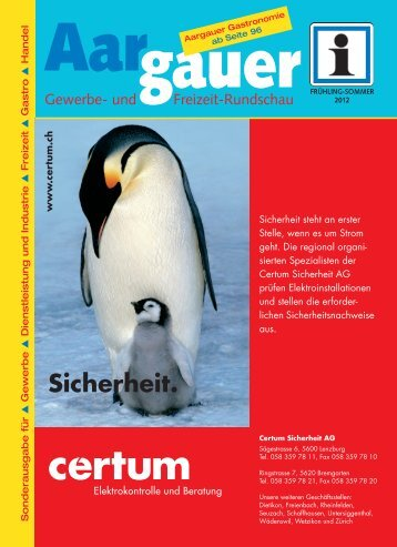 Auszug aus dem Aargauer Magazin - Swiss Interpublic AG