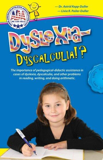 Preface - Dyslexia - Dyscalculia!?