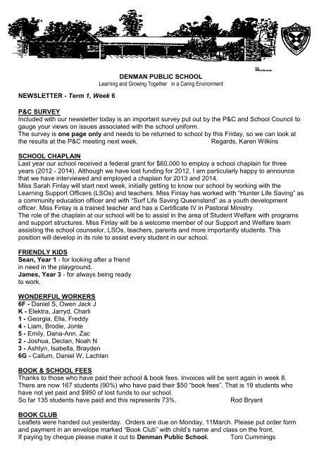 20 March 5 Week 12 [pdf, 226 KB] - Denman Public School