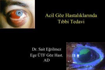 Acil Göz Hastalıklarında Tıbbi Tedavi